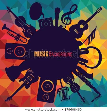 música · fantasia · ilustração · mulher · escuta - foto stock © OliaNikolina