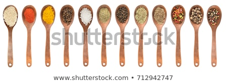 set of spoons with spices stock photo © dash