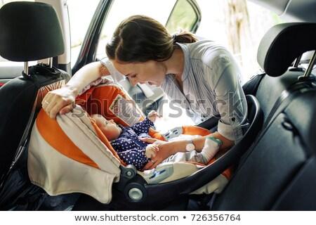 moeder · rijden · kinderen · paardrijden · Maakt · een · reservekopie - stockfoto © jossdiim