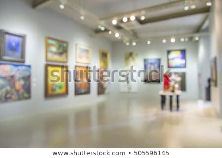 Blur people in photo or art gallery Stock photo © smuay