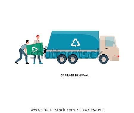 груза · грузовика · мусора · удаление · изолированный · белый - Сток-фото © yurischmidt