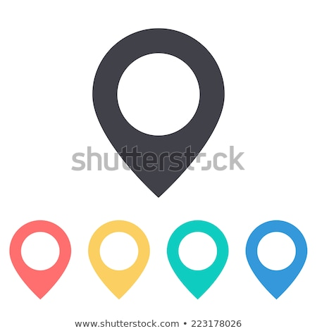 mapa · pin · ícone · vetor · marcador · assinar - foto stock © anna_leni