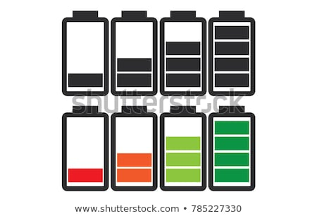 Indicator of battery level charger from empty to full charged set in color and black. Stock photo © kyryloff