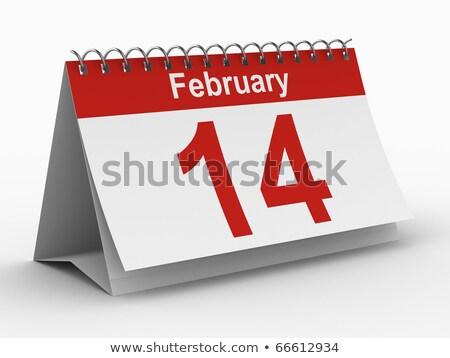 14 february. Calendar on white background. Isolated 3D illustrat Stock photo © ISerg