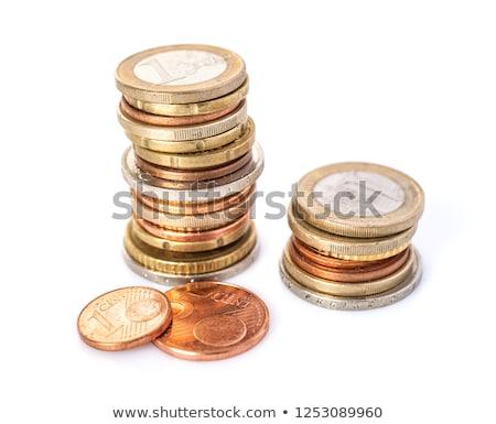 dois · moedas · isolado · negócio · metal - foto stock © zerbor