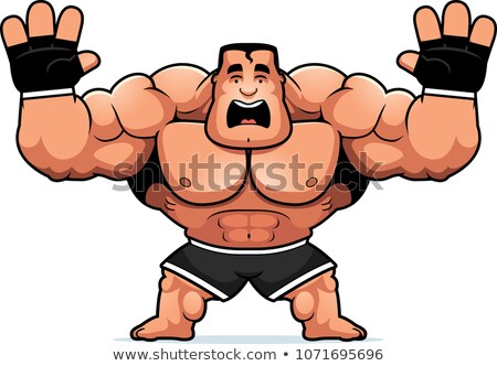 Cartoon MMA Fighter Scared Stock photo © cthoman