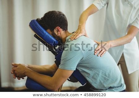 Terapeuta hát masszázs fiatal nő kéz nyugodt Stock fotó © AndreyPopov