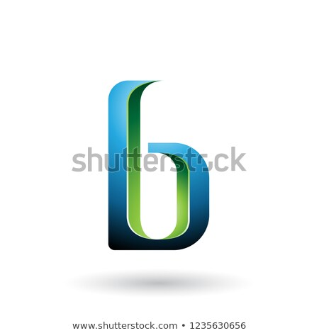 Blue and Green Shaded Letter B Vector Illustration Stock photo © cidepix