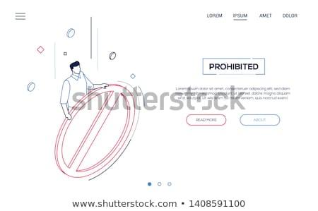 Proibido assinar moderno isométrica vetor teia Foto stock © Decorwithme
