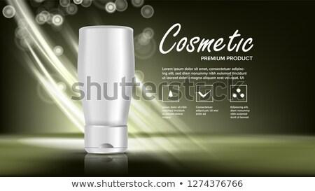 Cosmetici bottiglia banner vettore elegante donna Foto d'archivio © pikepicture