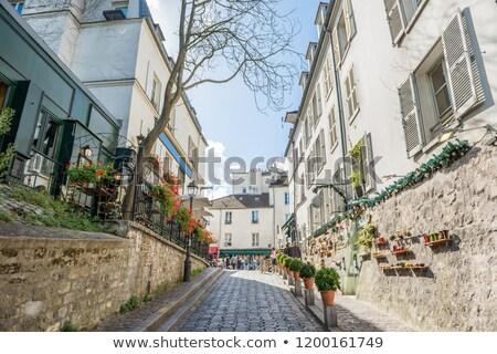 cafe · Parijs · Frankrijk · romantische · parijzenaar - stockfoto © vapi