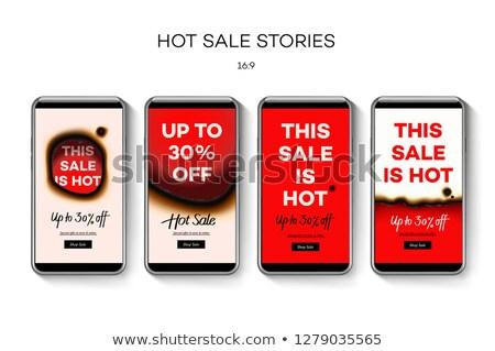 Set heißen Verkauf Vorlagen Jahr Abschluss Stock foto © ikopylov