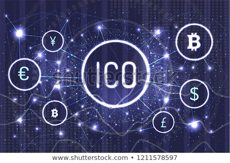 ico and dollar euro and yen currency set vector stock photo © robuart