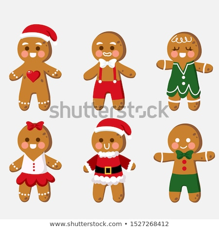 Cartoon Gingerbread Man in Love Stock photo © cthoman