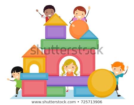 子供 基本 ブロック 実例 ストックフォト © lenm