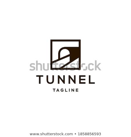 Carretera dentro túnel icono vector logo Foto stock © blaskorizov