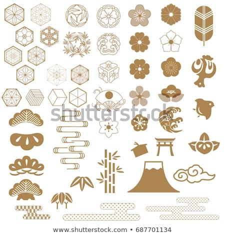 Foto stock: Japón · iconos · patrón · diseno · viaje · eps