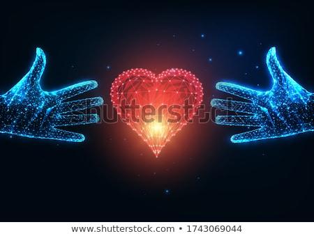 sterren · harten · edelstenen · illustratie · kind · ontwerp - stockfoto © sarts