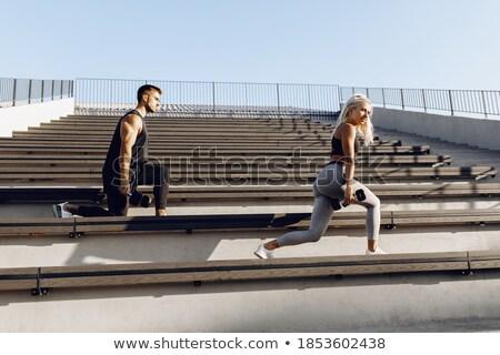 女性 · 重み · 男 · ジム · 手 - ストックフォト © dolgachov