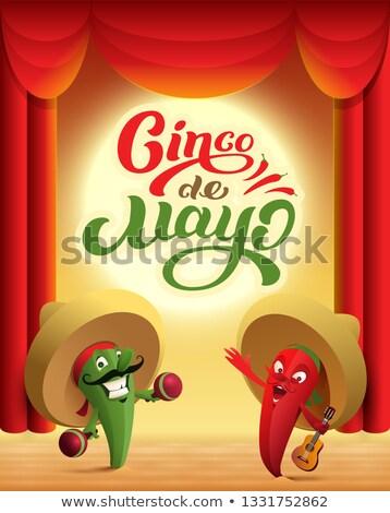 мексиканских кактус красный этап майонез Сток-фото © orensila