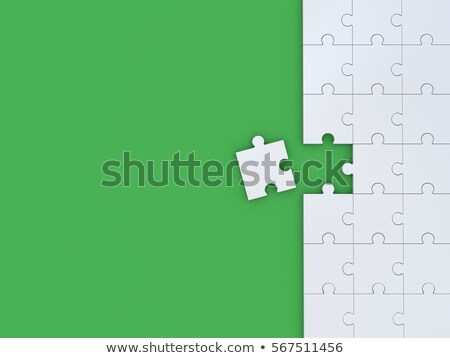 Green puzzle 3D Stock photo © djmilic