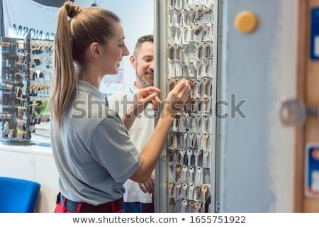Man and woman key maker in their shop  Stock photo © Kzenon