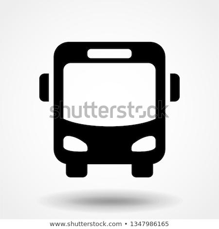Stok fotoğraf: Turist · otobüs · ikon · görmek · gri