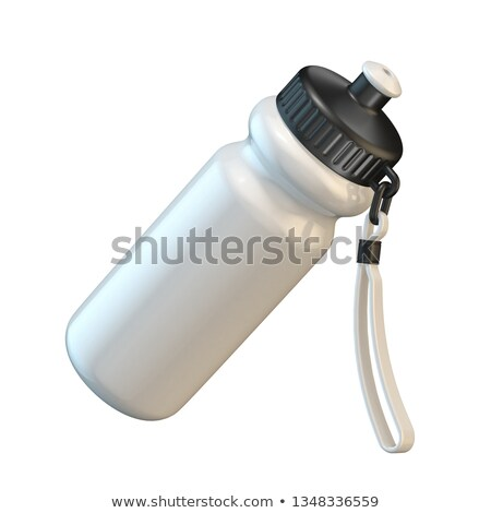 White sport plastic water bottle angled 3D Stock photo © djmilic