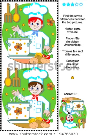 Educational children game. Logic game for kids. Find 7 differenc Stock photo © anastasiya_popov