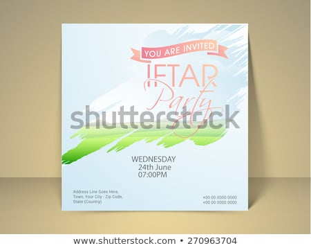 decorative iftar party invitation card design Stock photo © SArts