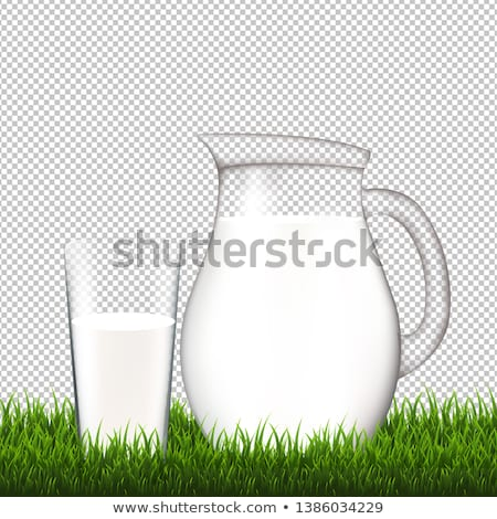 Jarra vidrio hierba frontera transparente gradiente Foto stock © adamson