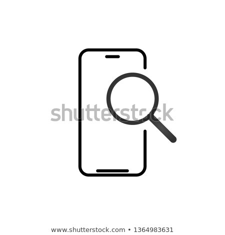 Cellulare ricerca contorno icona lineare stile Foto d'archivio © kyryloff