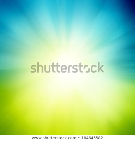 Blue And Green Sunburst Background Stock photo © adamson