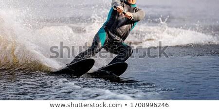 man riding water skis stock photo © leedsn