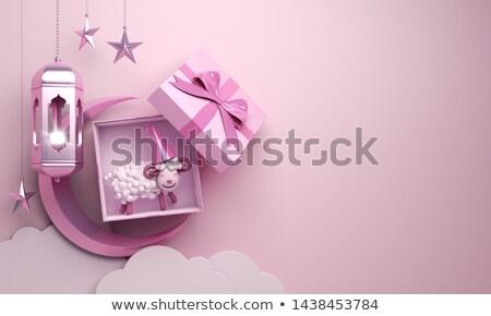 Fesztivál lámpás dekoráció boldog absztrakt terv Stock fotó © SArts