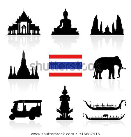 Tailândia · bandeira · branco · mundo · pintar · assinar - foto stock © netkov1