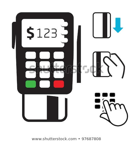 Icon of pos terminal or bank card reader for shopping and retail Stock photo © ussr