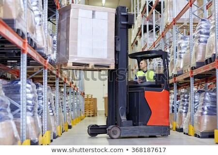 camión · contenedor · 3d · fábrica · almacén - foto stock © dolgachov