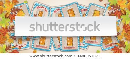 ősz lomb papír bot Oktoberfest sör Stock fotó © limbi007