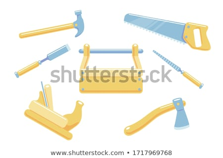 Color Builder Woodworker Tool Vintage Hammer Vector Stock photo © pikepicture