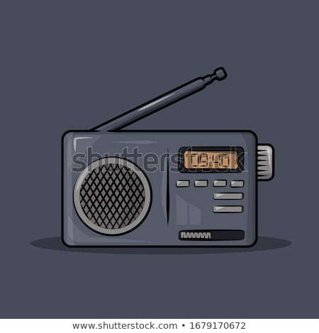 Radio with Antenna and Cassette with Microphone Stock photo © robuart