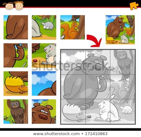Cartoon heureux écureuils illustration Photo stock © izakowski