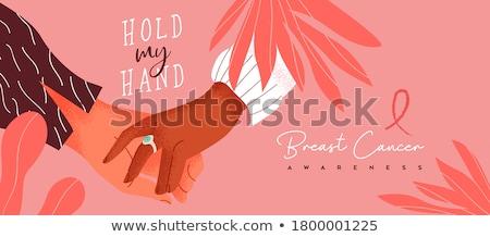 Tekst hand kaart roze borstkanker Stockfoto © wavebreak_media