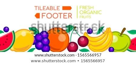Fresco orgânico frutas vetor realista sem costura Foto stock © Decorwithme