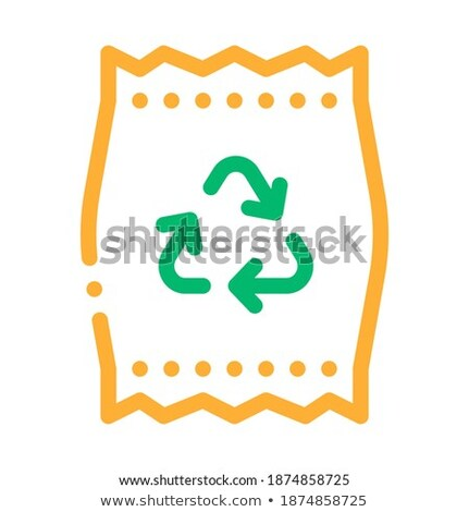 Plastic Parcel Bag With Recycle Mark Vector Icon Stock photo © pikepicture