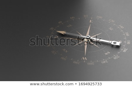 Business Guidance Or Orientation Concept. Compass over Black Bac Stock photo © olivier_le_moal