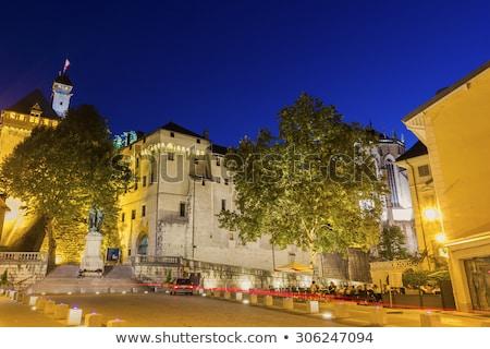 Kastély Franciaország öreg város kő építészet Stock fotó © borisb17