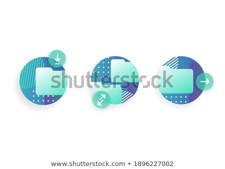 エクスポート インポート ファイル アイコン アップロード ダウンロード ストックフォト © kyryloff