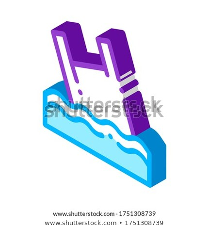Bag Junk Flotsam In Ocean isometric icon vector illustration Stock photo © pikepicture