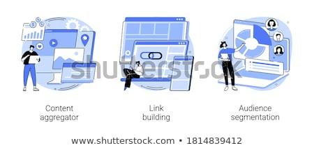 Inhoud marketing vector metafoor nauwkeurig Stockfoto © RAStudio
